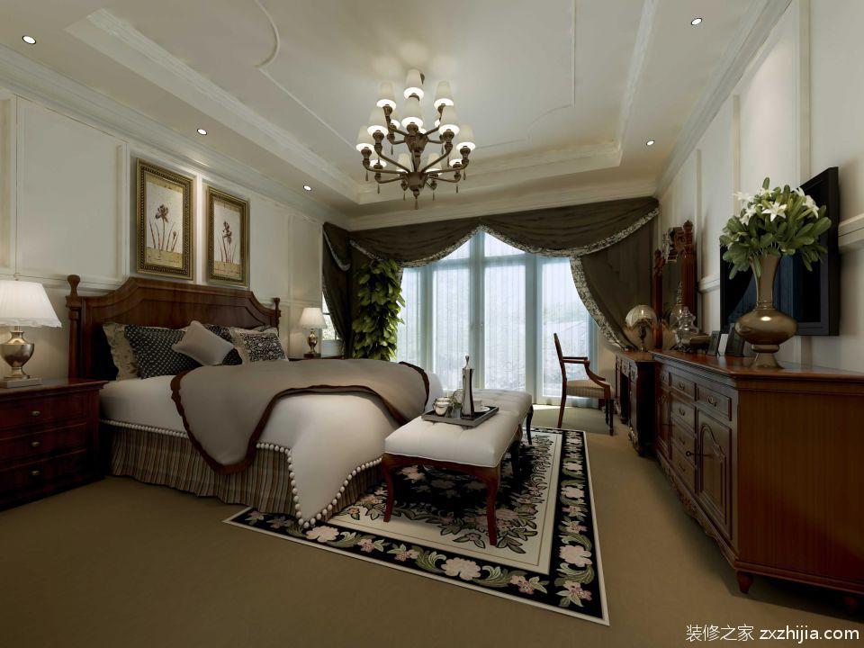 美式卧室装修设计案例_装修之家装修效果图图片