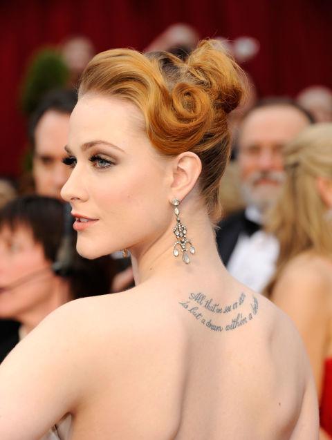 原创女明星的纹身你知道有什么含义吗?图片