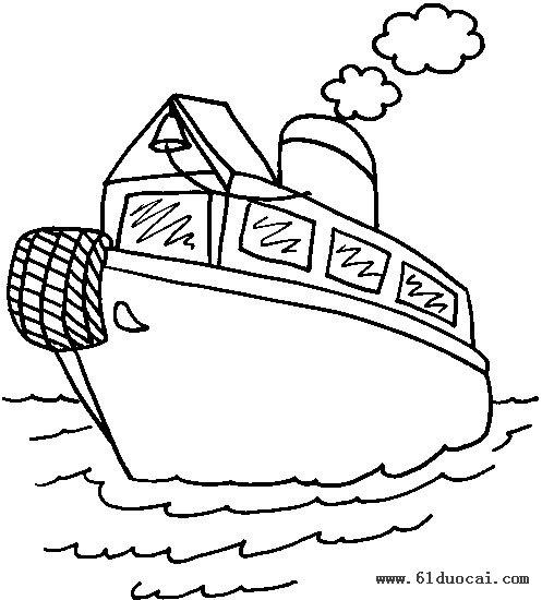 简笔画轮船的画法 简笔画花的画法 简笔画熊猫的画法图片