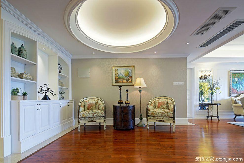 欧式简欧奢华四室180平米客厅美图_装修之家装修效果图图片