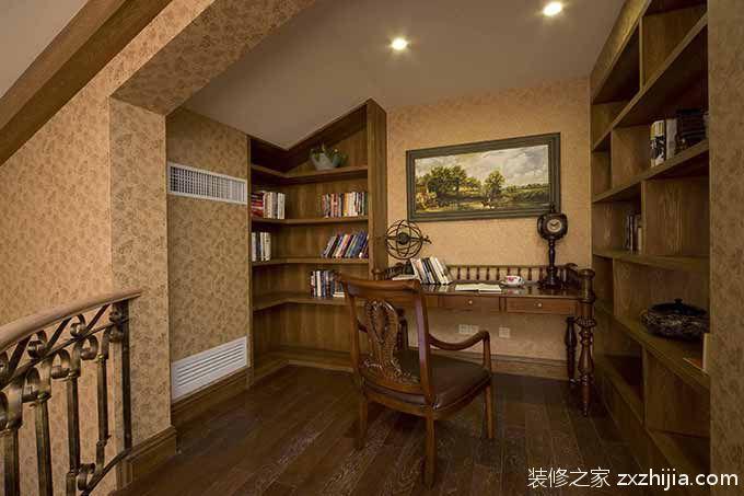 雅致中式风格简洁书房设计装潢_装修之家装修效果图图片