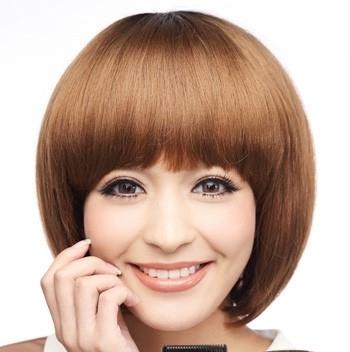 圆脸女生适合剪的波波头 变身可爱知性美女图片