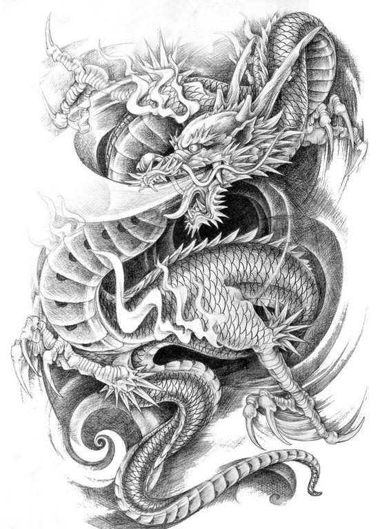 纹身手稿欣赏图片