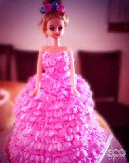 【蓝色芭比娃娃蛋糕】图片