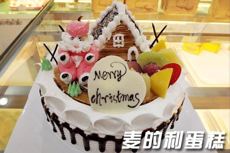 【免费配送】仅88元,享价值228元『麦的利蛋糕』12寸圣诞新年主题蛋糕图片