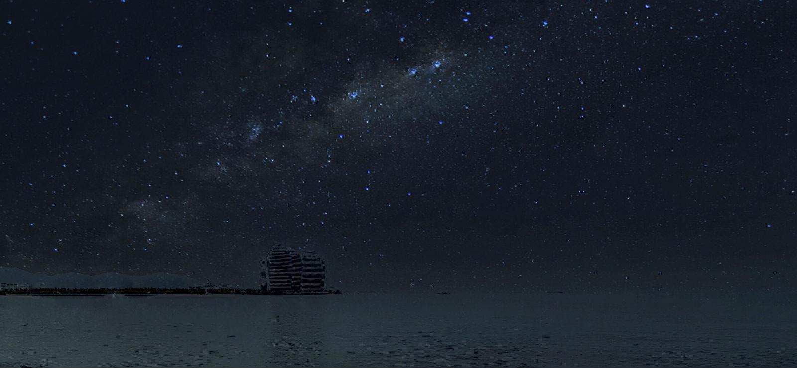 第二晚的星空更加美 更加亮图片图片