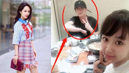 杨紫被曝与男子共进晚餐
