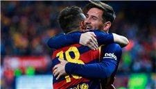 国王杯-3红牌!梅西两传 巴萨加时2-0夺双冠