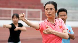 霍元甲玄孙女全运会夺冠 38岁才学霍家拳