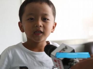 地震来袭,6岁男孩