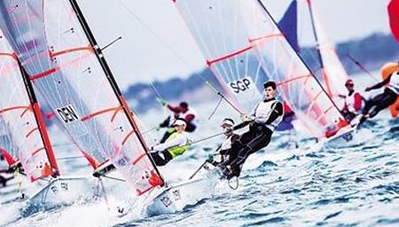 世界青年帆船锦标赛 中国青年队绝好的锻炼机会