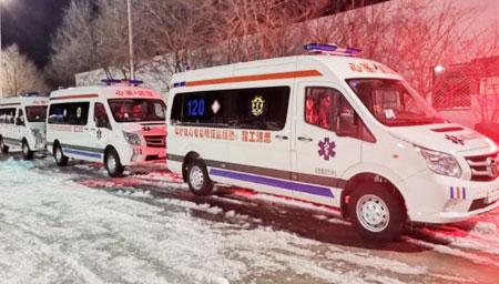 第三批负压救护车到武汉