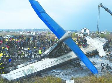 尼泊尔客机失事致49死