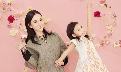 李小璐晒与甜馨母女装