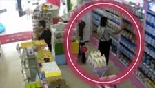 """女子母婴店内4分钟""""夹""""走两罐奶粉"""