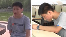 """独臂""""励志哥"""" 赴青岛上大学  有什么理由不努力"""