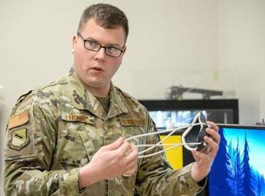 美军部队用3D打印N95口罩