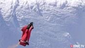 翱翔雪山之巅!翼装飞行员第一视角,在即将撞上的时候转机出现了