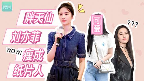刘亦菲瘦身20斤成纸片人,而神颜的她却胖成了蒋欣!