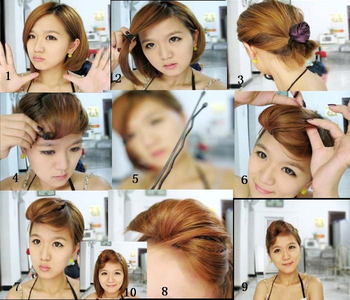 短头发怎么扎图片图片