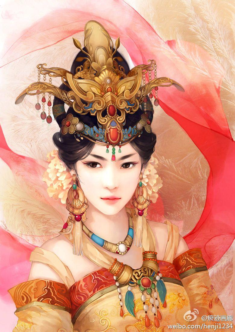 古代美女图片向下面这种的