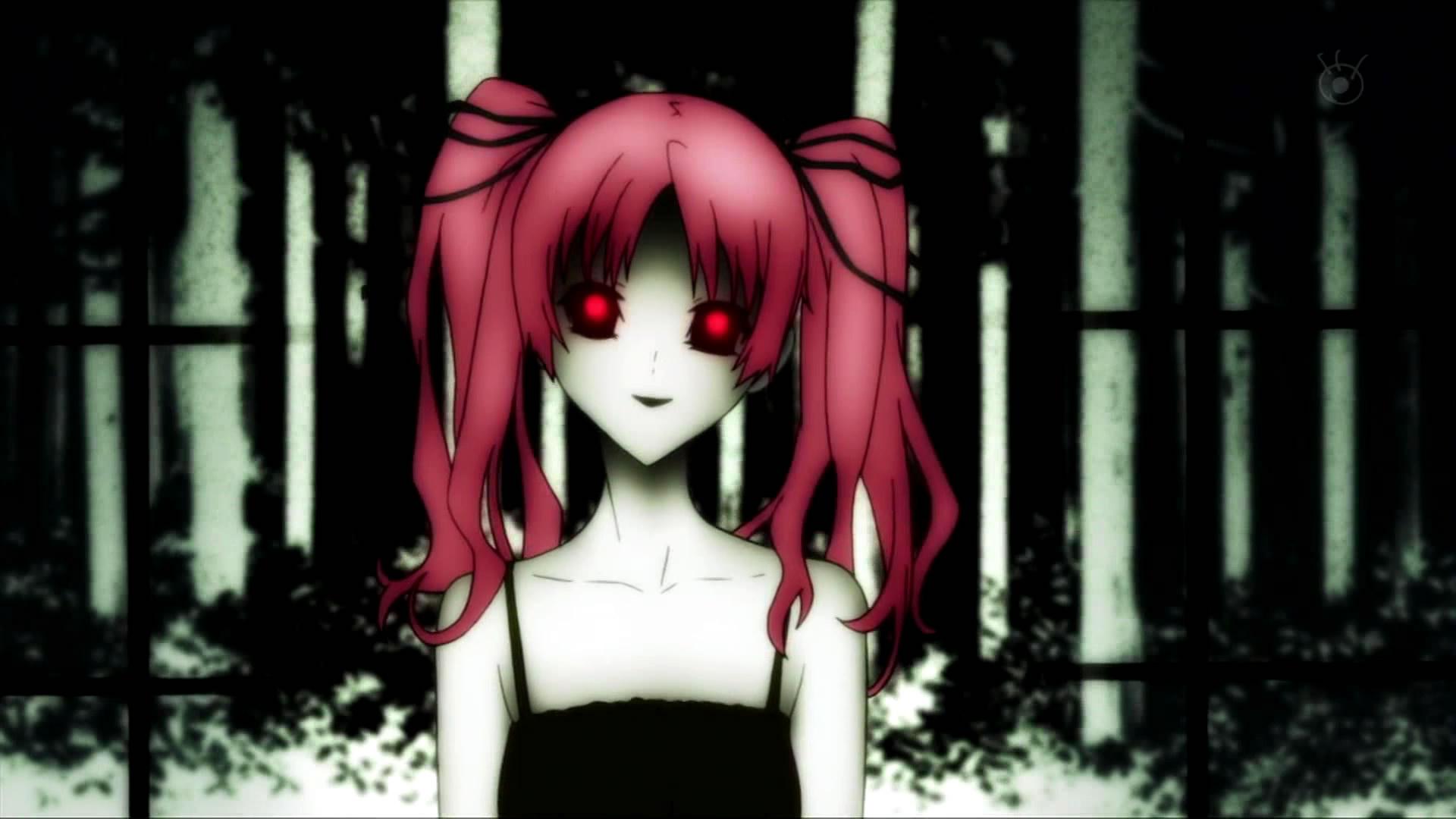 求一张比较阴郁恐怖的动漫女孩的图片