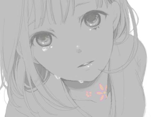 Картинки аниме слезы боль