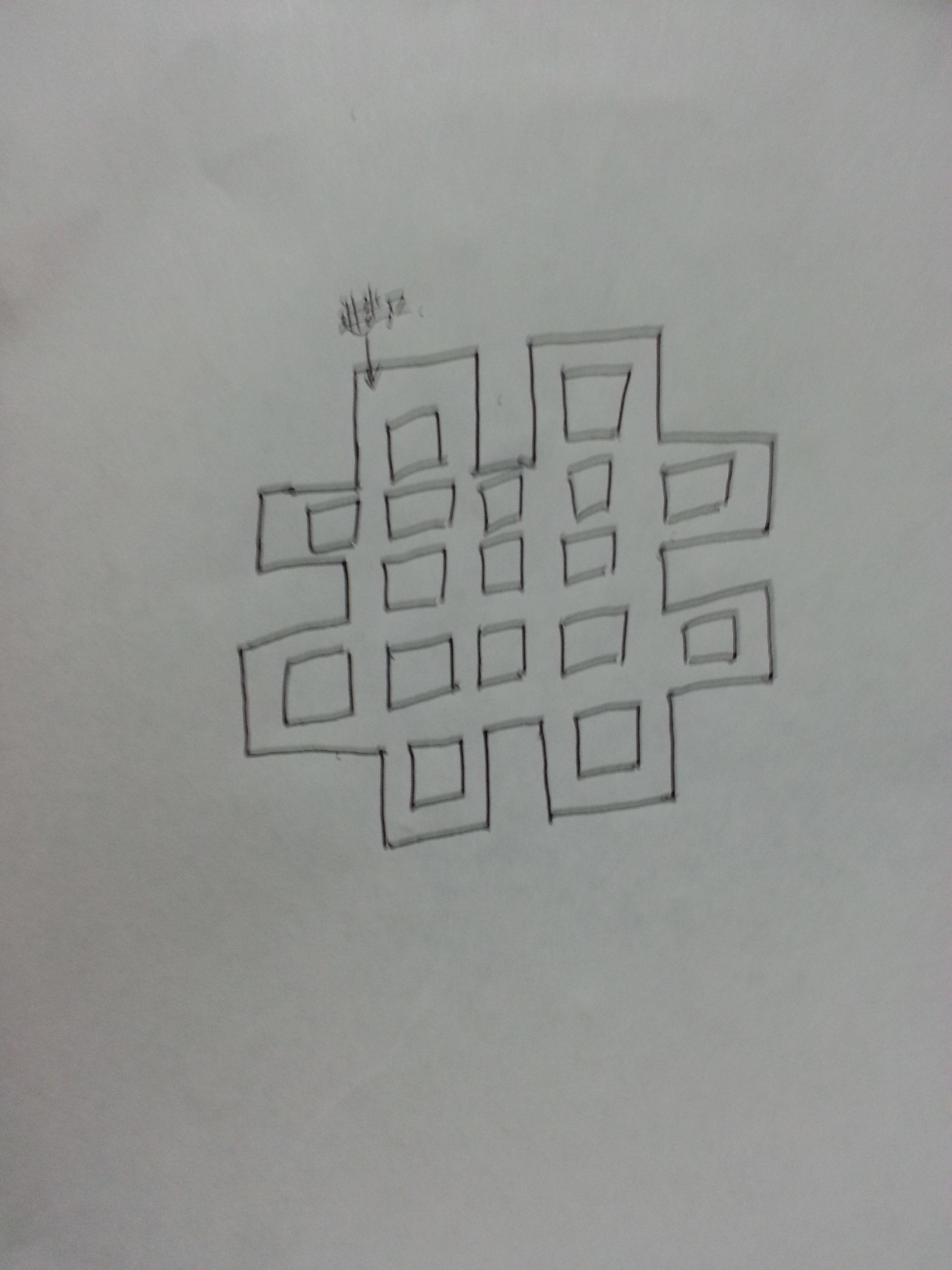 小学三年级奥数题,走迷宫,一笔画完全图,且不允许重复图片