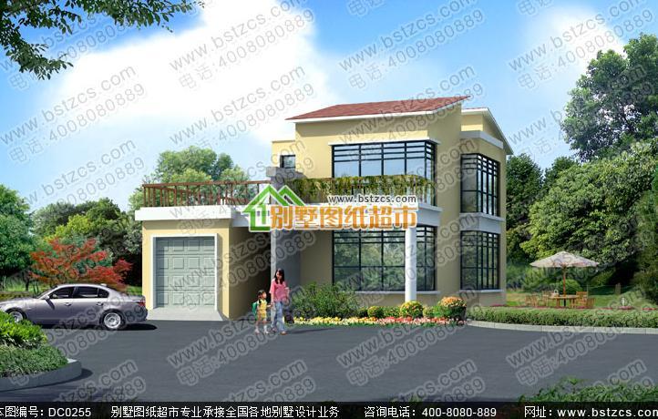 二层新农村别墅 两层带阳台小洋楼全套设计图纸商品编号: