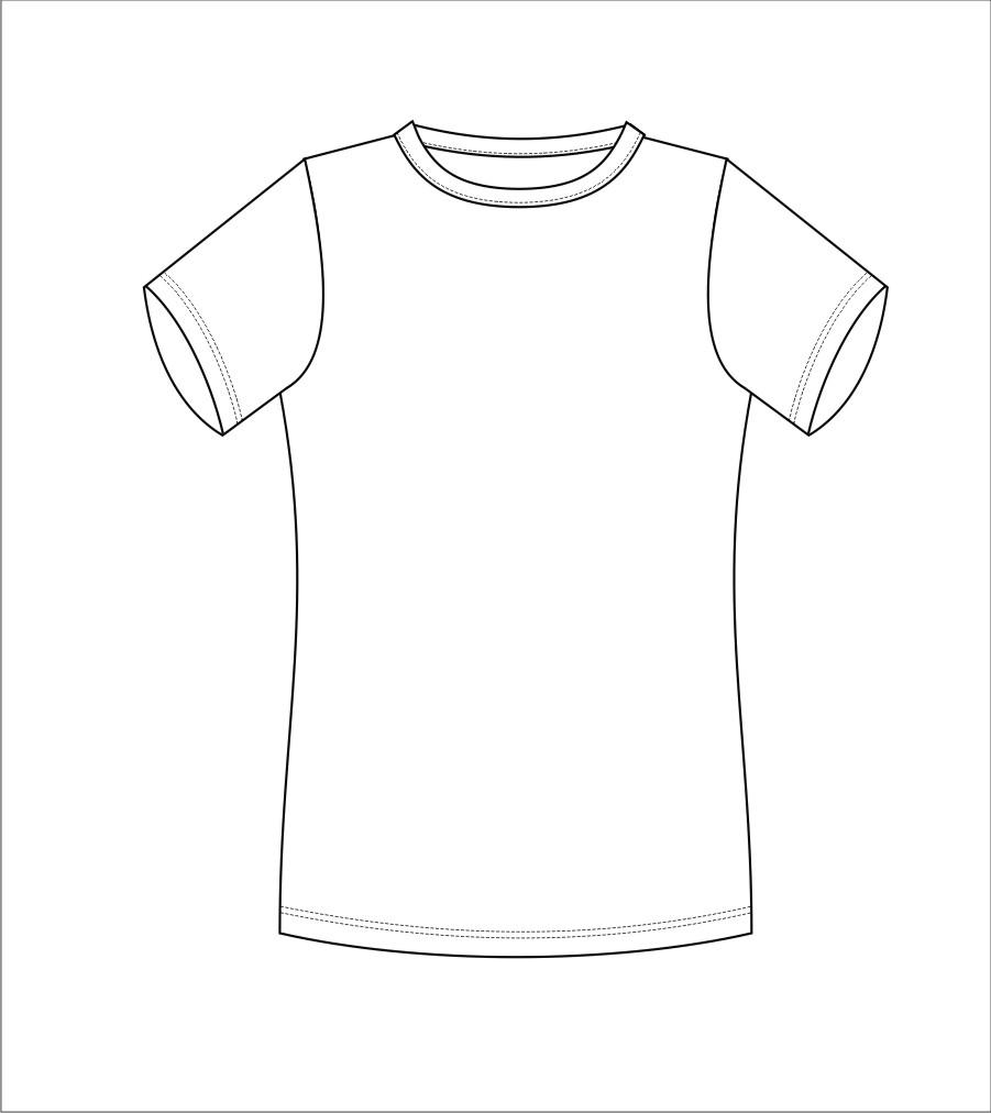 t恤 t恤 简笔画 手绘 线稿 衣服 901_1012图片