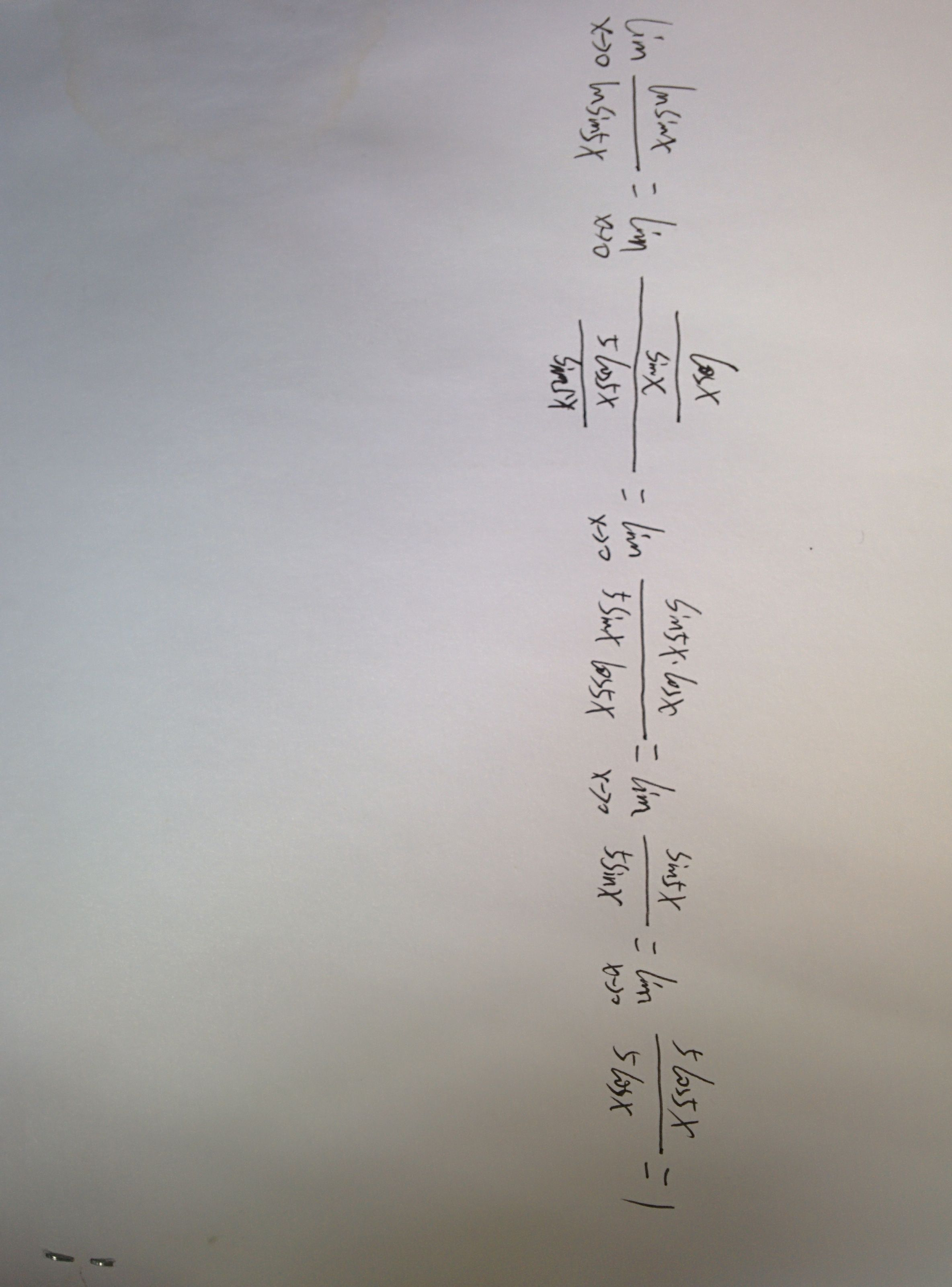 ln(1减2x)除于sin5x