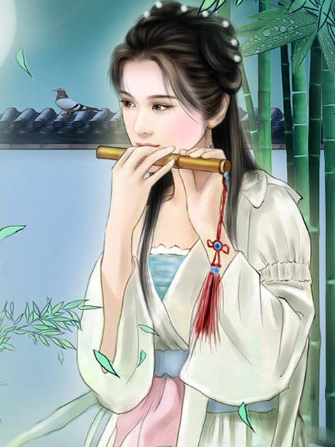 找一张古代女子吹箫的图
