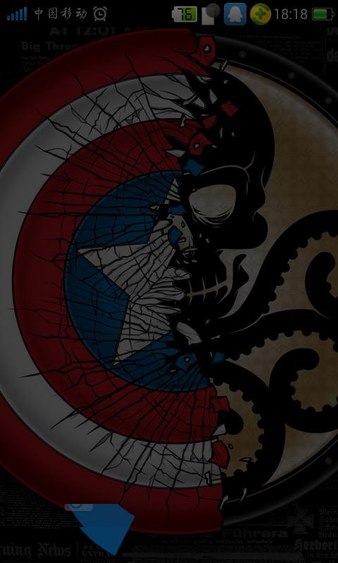 美国队长里面九头蛇红骷髅的徽章的图片谁有!_百度知道