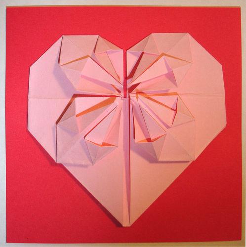 这种心形折纸怎么折 我原来会的现在忘了 求解图片