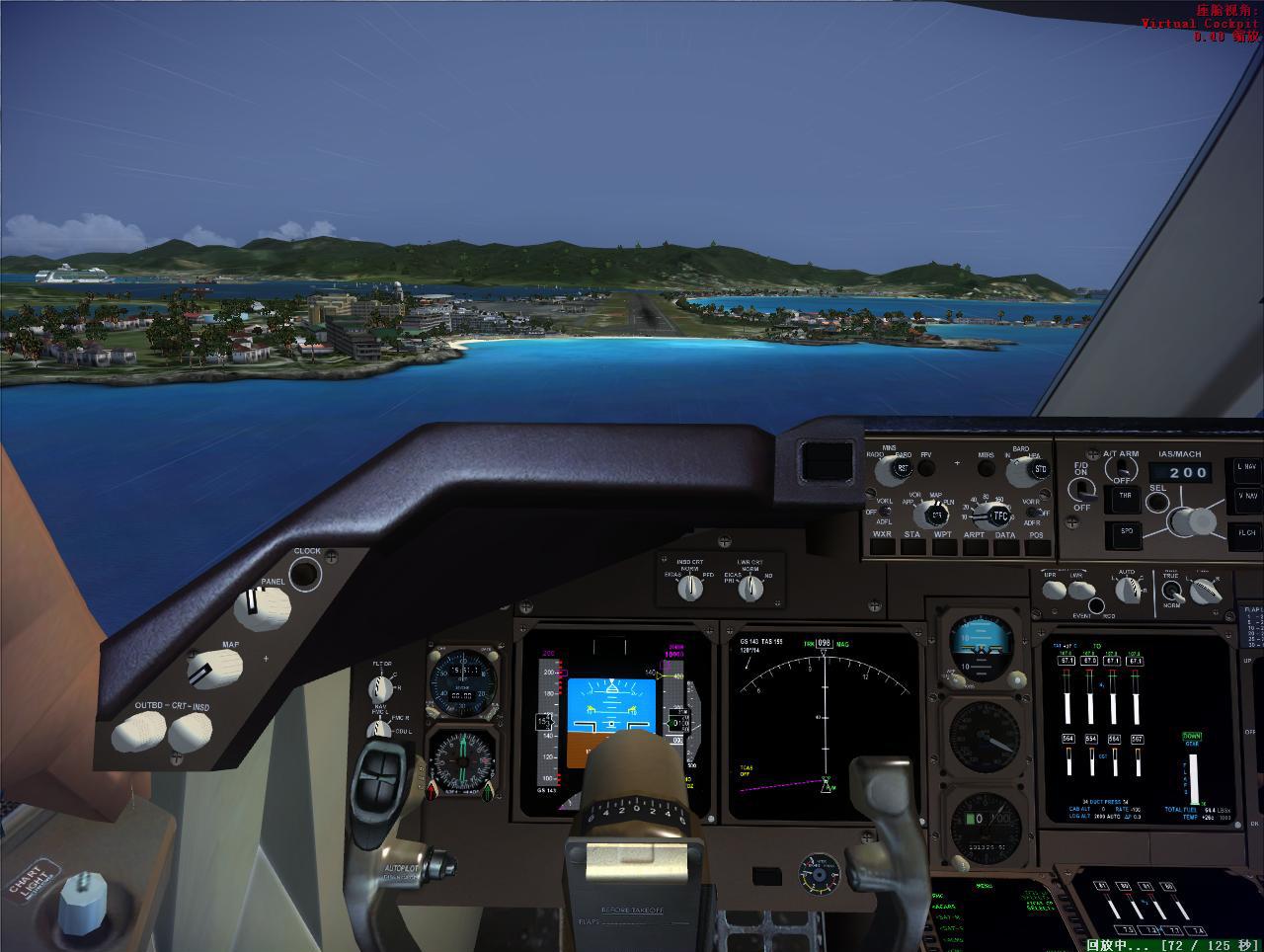 模拟飞行fsx 圣马丁岛机场 怎么着陆?