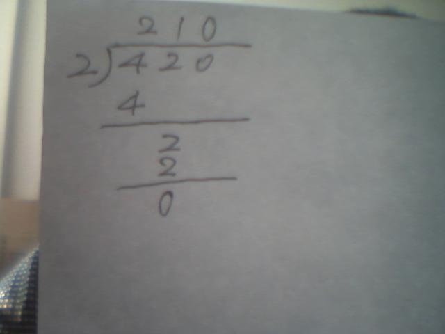 420除以2的坚式