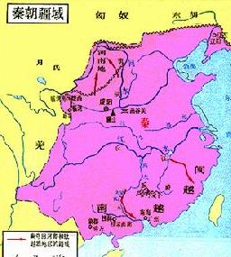 秦朝疆域地图