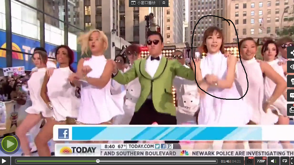 鸟叔纽约街头伴舞女孩是谁啊?