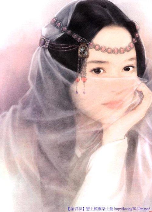 我想要一张古装手绘美女的图片