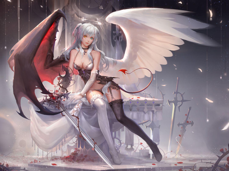 求一个人一半是天使一半是恶魔的动漫图片图片