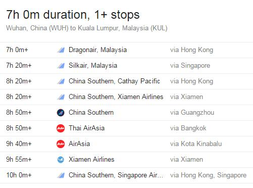 武汉到吉隆坡多长时间