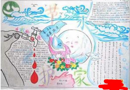 关于节约用水的手抄报图片
