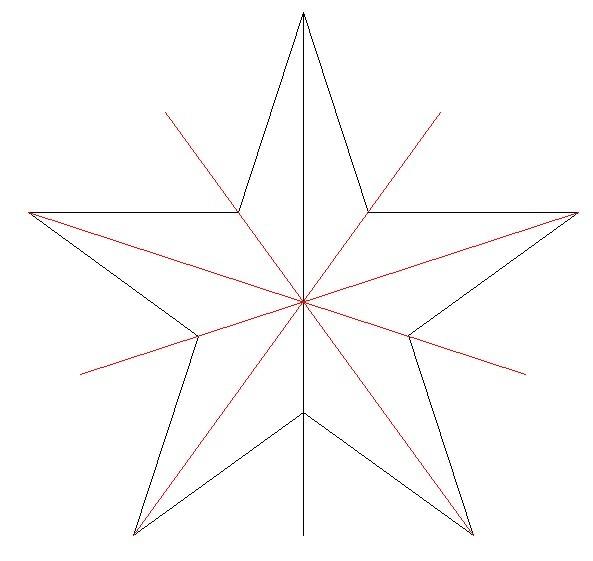 五角星图形是不是轴对称图形?图片