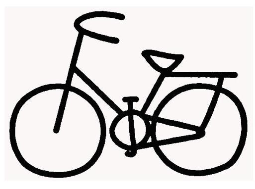 自行车怎么画图片