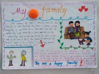 """题目:""""my family""""(我的家庭)的英语手抄报该怎么设计  在网上搜索"""