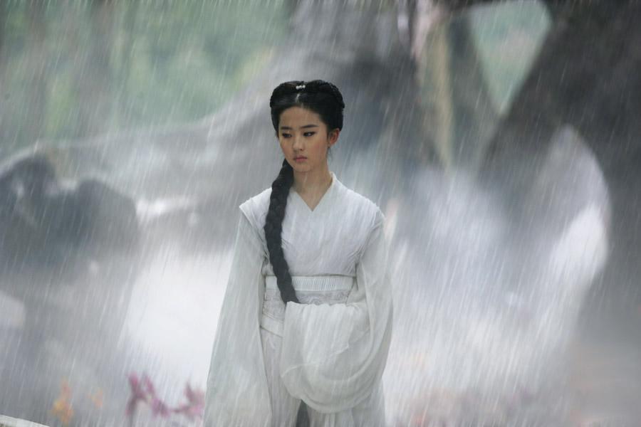 是关于一个女生在雨中漫步的