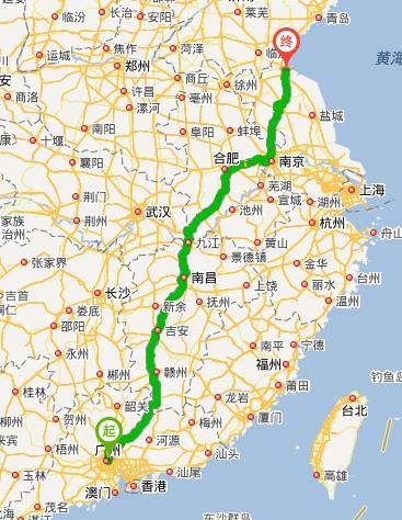 广州至连云港飞机