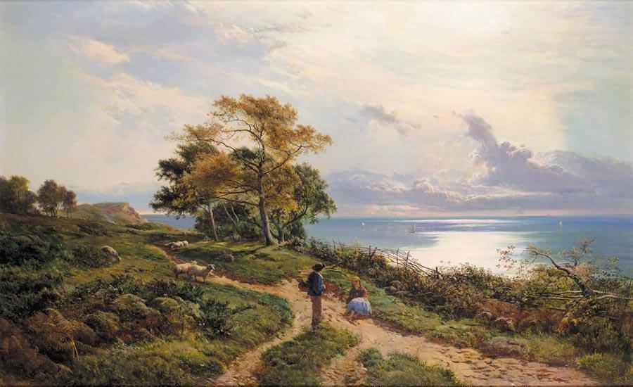 谁有这个油画大师的作品-西德尼·理查德·珀西英国风景画家sidney图片
