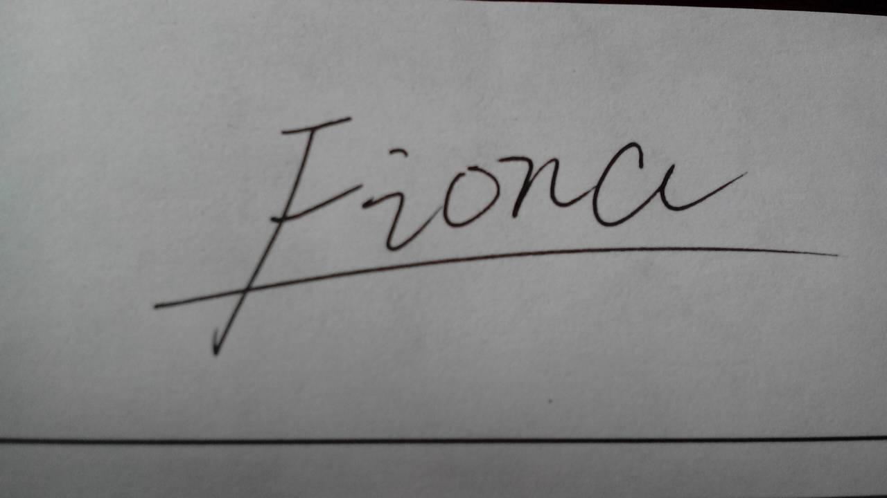 设计好看英文名签名,我的英文名是fiona图片