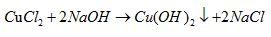 氢氧化钠和氯化铜离子